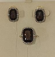 Золотой комплект с бриллиантами / жёлтое золото