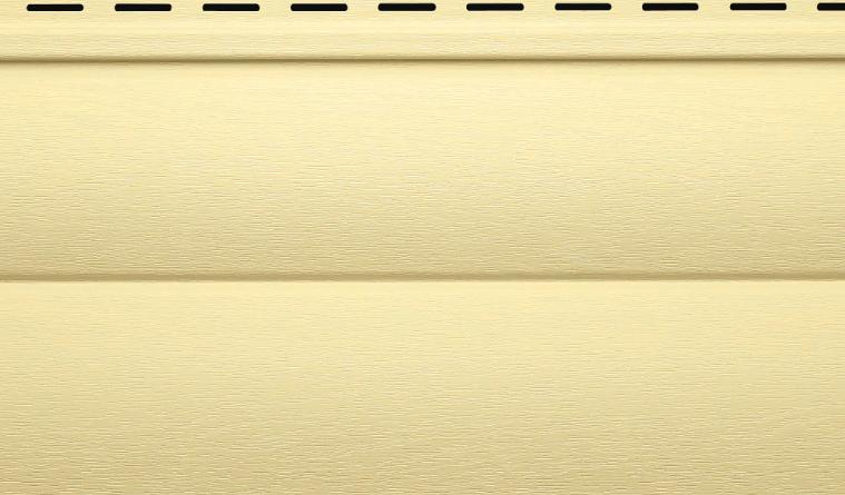 Сайдинг виниловый 230х3,000 мм 0,69 м2 Кремовый Vinylon BlockHouse D4,5