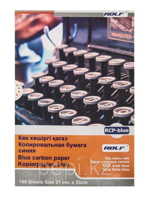 Бумага копировальная Rolf 100л синяя