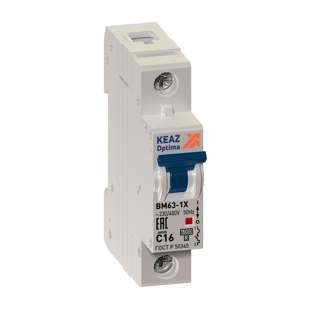 Выключатель автоматический OptiDin ВМ63-1C16-10-УХЛ3 (Новый) КЭАЗ