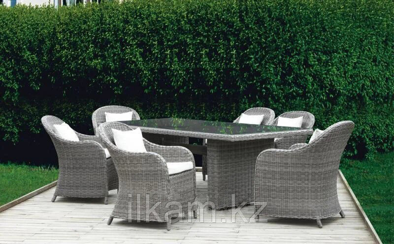 0232 Комплект плетенной мебели стол и 6 кресел ФАНСТЭ