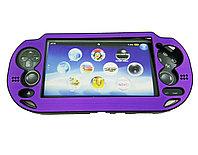 Чехол защитный алюм-металл Sony PS Vita Different Material Case Protective Case, фиолетовый, фото 1