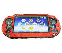 Чехол защитный алюм-металл Sony PS Vita Different Material Case Protective Case, красный, фото 1