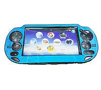Чехол защитный алюм-металл Sony PS Vita Different Material Case Protective Case, голубой