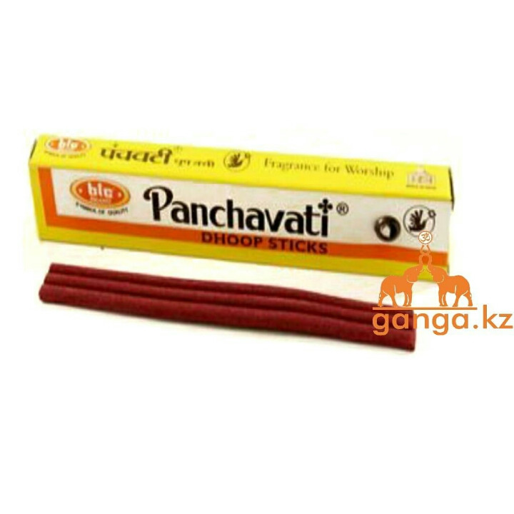 Натуральные безосновные благовония Панчавати (Panchavati Dhoop Sticks BIG BRAND), 10 шт