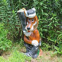 Садовая фигурка из гипса Шарик с ружьем 60х30х20 см