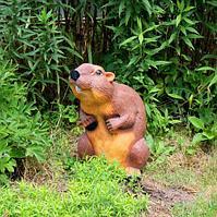 Садовая фигурка из гипса Бобер большой 45х25х26 см