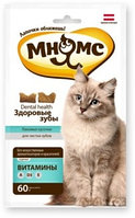 Лакомство для кошек Мнямс хрустящие подушечки Здоровые зубы, фото 1