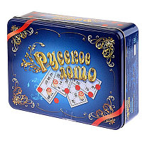 """Игра настольная Лото, Десятое королевство, """"Русское лото"""", жестяная коробка 1780"""