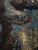 «Змеиный голод» мужская тотальная футболка, фото 3