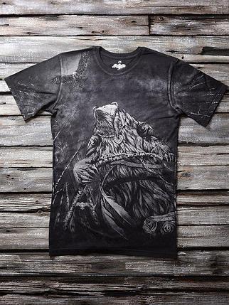 «Медвежий вождь» мужская тотальная футболка, фото 2