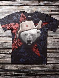 «Медведь белый 2» мужская тотальная футболка