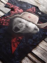 «Медведь белый 2» мужская тотальная футболка, фото 3