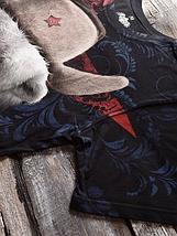 «Медведь белый 2» мужская тотальная футболка, фото 2