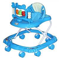 BAMBOLA Ходунки КРАБ (8 колес,игрушки,муз)(64*58*64) BLUE голубой