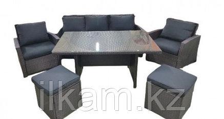Мебельный комплект из ротанга: стол,диван,два кресла, пуфик., фото 2
