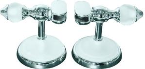 Держатели для зеркала (2 шт) белые матовые