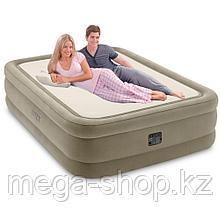 Двуспальная надувная кровать со встроенным электрическим насосом Intex Prime Comfort 64478 (152-203-51 см)