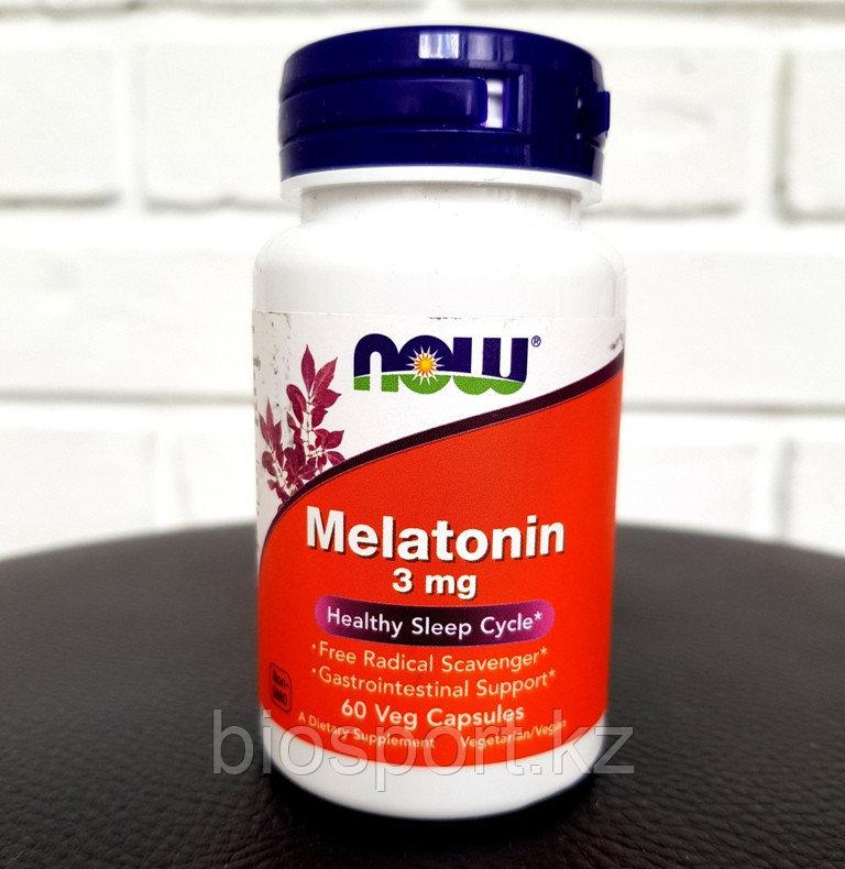 Now Foods, Melatonin, 3 mg, 60 Капсул.