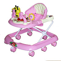 BAMBOLA Ходунки ПЧЕЛКА (8 колес, игрушки,муз)  (67*60*52) PINK розовый