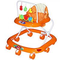 BAMBOLA Ходунки СЧИТАЛКА (8 колес,игрушки,муз)  (62*53*60) ORANGE оранжевый