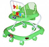 BAMBOLA Ходунки СЧИТАЛКА (8 колес,игрушки,муз) (62*53*60) GREEN зеленый