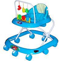 BAMBOLA Ходунки СЧИТАЛКА (8 колес,игрушки,муз)  (62*53*60) BLUE голубой