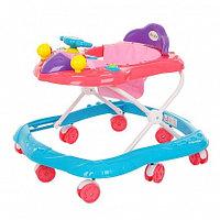 BAMBOLA Ходунки САМОЛЁТ (8 колес,игрушки,муз) (62*53*57)  BLUE Голубой/розовый
