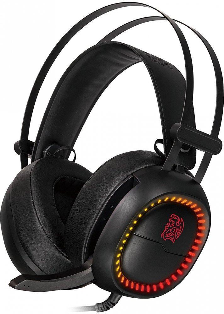Наушники с микрофоном Tt eSports SHOCK PRO RGB, HT-HSE-ANECBK-23
