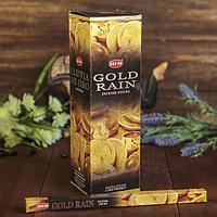 """Благовония """"HEM"""" 8 палочек угольные gold rain, фото 1"""