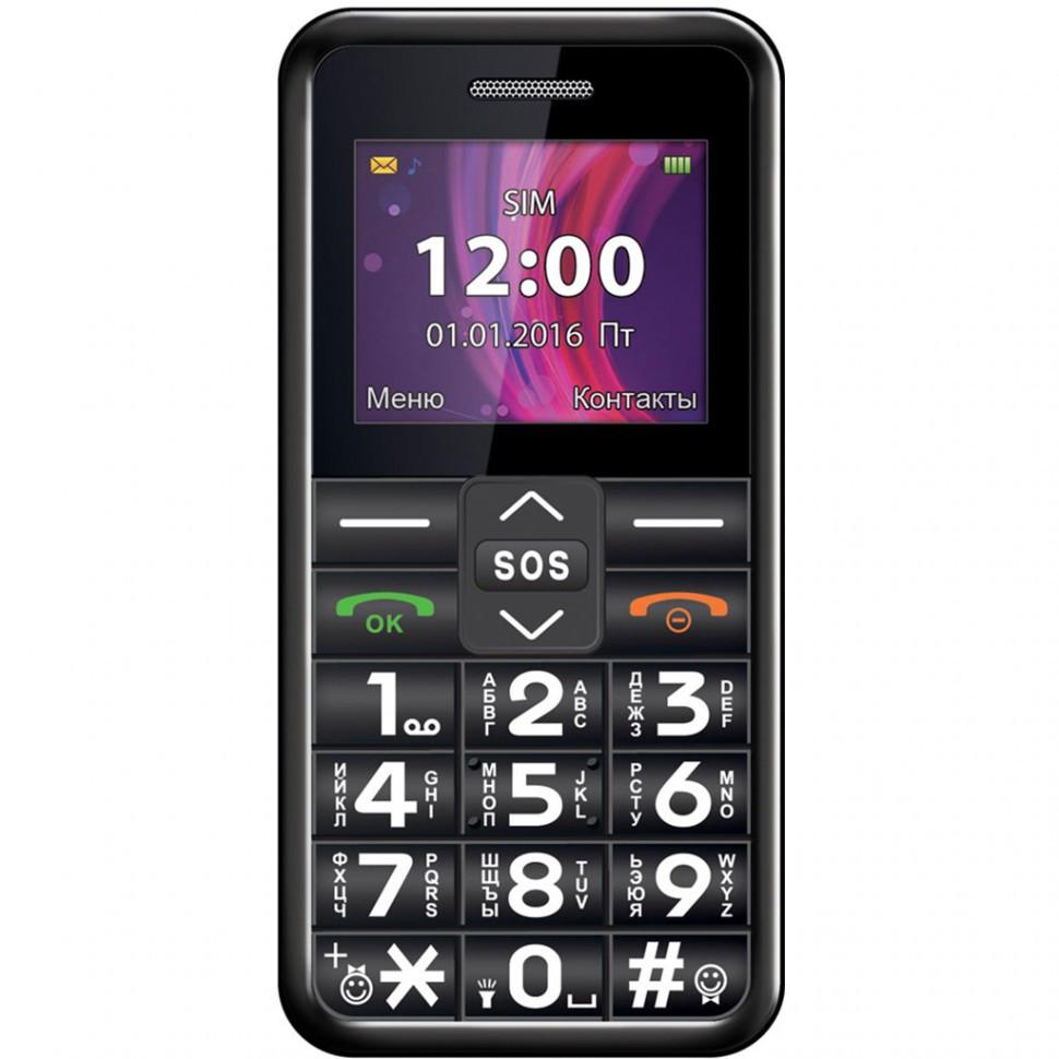 Мобильный телефон Texet TM-101 черный
