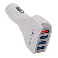 Зарядное устройство автомобильное Cablexpert MP3A-UC-CAR18,12V->5V 4-USB, поддержка quick charge 3.0
