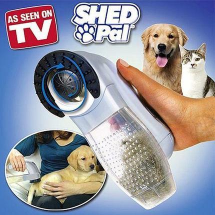 Щетка-пылесос для шерсти домашних животных SHED PAL, фото 2