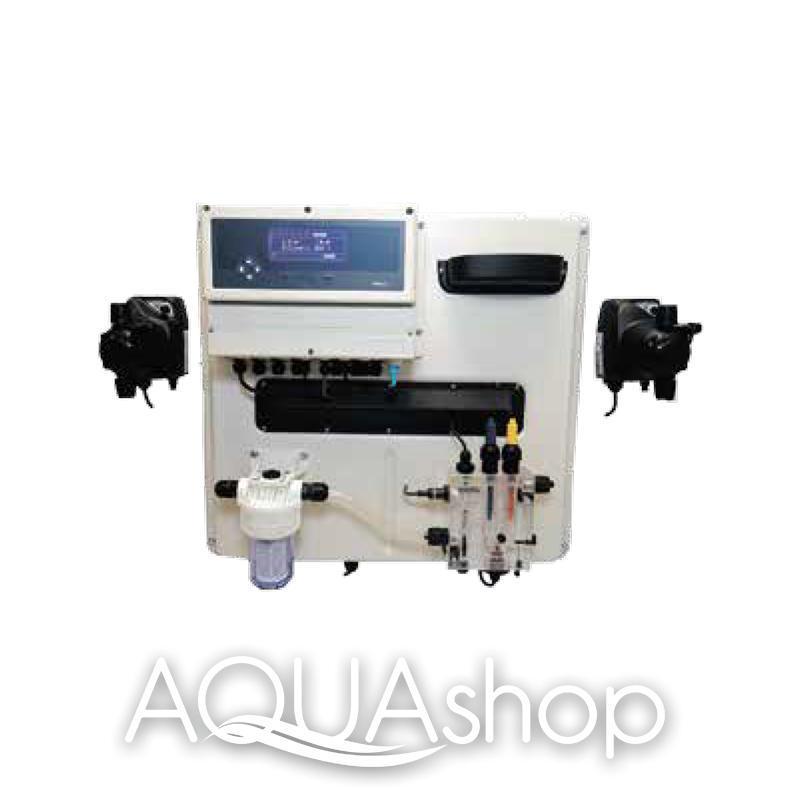 Станция контроля и коррекции A-POOL TOP PRO 3 PLUS pH/хлор/Rx/температура + монтажный комплект. Бассейн до 100