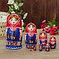 Матрёшка «Птица на фартуке», красный платок, 8 кукольная, 19 см, фото 5