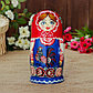 Матрёшка «Птица на фартуке», красный платок, 8 кукольная, 19 см, фото 7