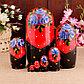 Матрёшка «Птица на фартуке», красный платок, 8 кукольная, 19 см, фото 10