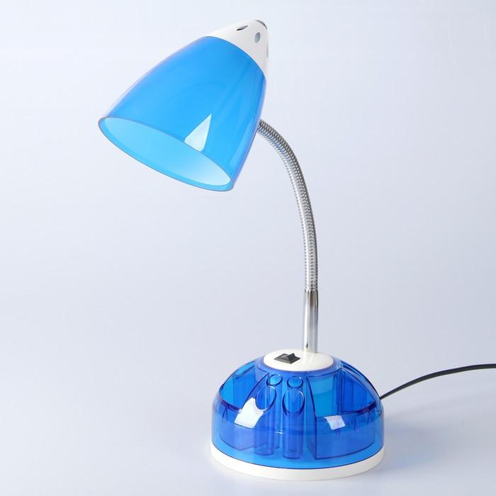 Настольная лампа 1x60W E27 синяя  16,5x16,5x51см