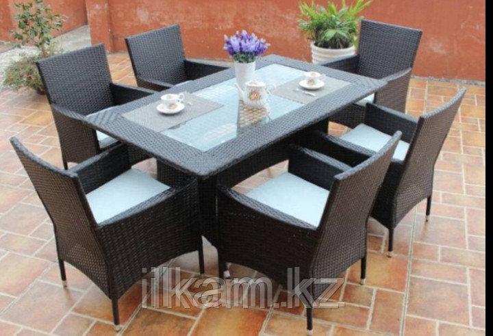 Мебельный комплект из ротанга обеденный,6 персон