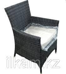 Мебельный комплект из ротанга : 4 кресла и стол, с отверстием для зонта, фото 2