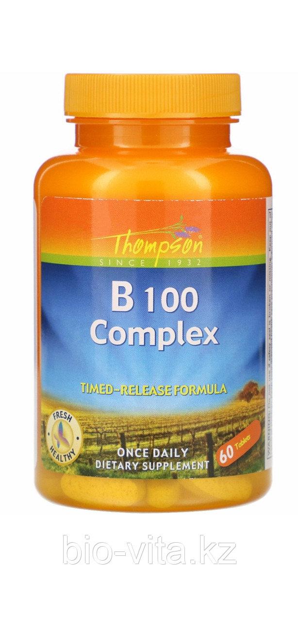 Комплекс витаминов группы В. B-100 100 таблеток.  Thompson