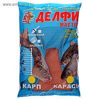 Прикормка Delfi «мастер», аромат чеснок, карп/карась, цвет красный, вес 0,8 кг