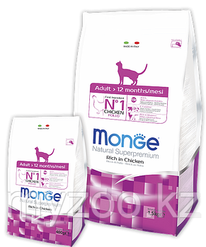 Monge cухой корм для взрослых кошек с курицей 400 гр