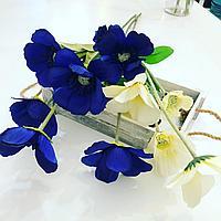 Искусственные цветы,Анемоны, два цвета,ткань, высота 35 см