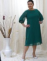 Стильное вечернее шифоновое платье