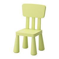 Детский стул МАММУТ д/дома/улицы светло-зеленый ИКЕА, IKEA , фото 1