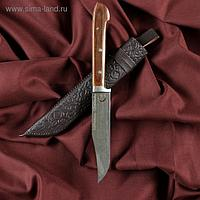 Нож Пчак Шархон - малый, текстолит, гюльбанд олово, заточка от середины ШХ15 (13-14 см)
