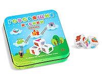 Игра настольная «Говорящие кубики Сказки» в жестяной коробке из серии «Игры в табакерке»