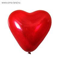 """Шар латексный 5"""", сердце, декоратор, цвет ярко-красный. набор 100 шт."""