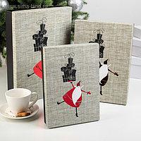 "Набор коробок 3 в 1 ""Санта с подарками"", 32 х 23 х 7 - 24 х 17 х 5 см"